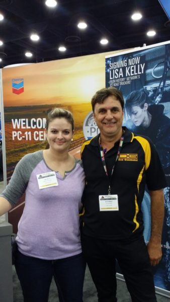 Ice Roads Lisa Kelly & Alex Debeuz from Duo Guardable truck coupling cover company